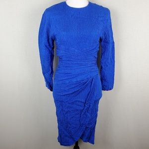 VTG Morton Myles Silk Textured Long Sleeve Dress 4